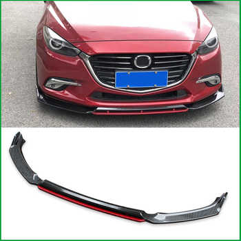 For Mazda 3 M3 Axela 2014-2018 Front Bumper Sport Style Lip Lower Grille Diffuser Protector Plate Spoiler Body Kit Cover Trim - DISCOUNT ITEM  14% OFF All Category