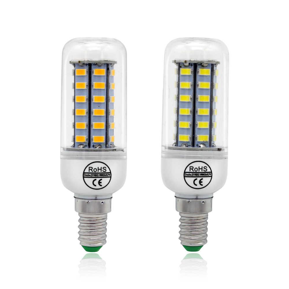 E14 E27 B22 G9 GU10 lampe à LED SMD 5730 lumière LED Maïs LED Ampoule 24 36 48 56 69 72 LED s 220V 230V Lustre Bougie D'éclairage À La Maison