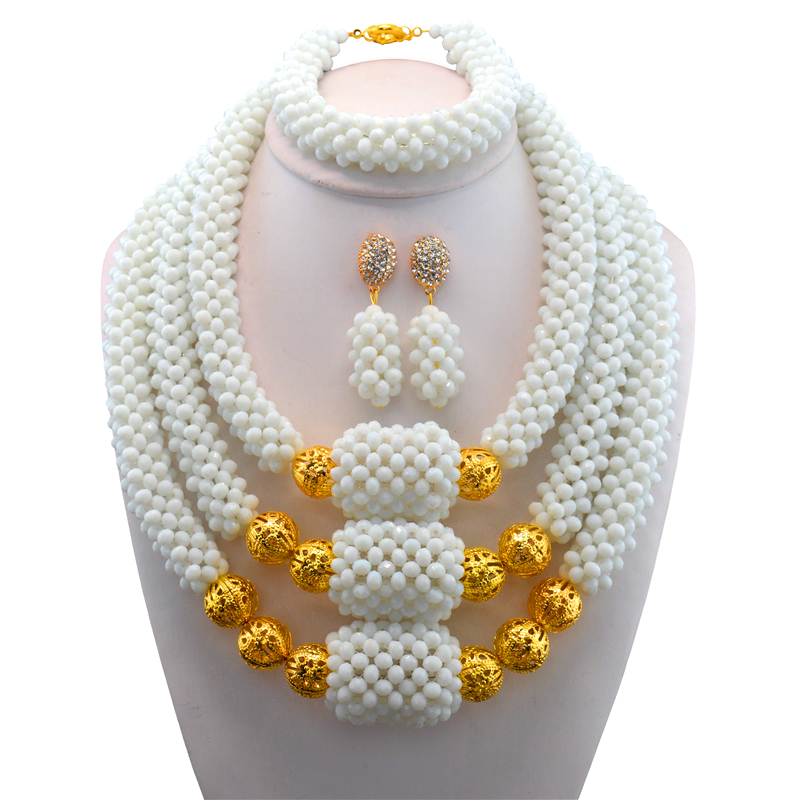New Exquisite Dubai Jewelry Set Luxury Gold Color Big Nigerian Wedding African Beads Jewelry Set Costume New DesignNew Exquisite Dubai Jewelry Set Luxury Gold Color Big Nigerian Wedding African Beads Jewelry Set Costume New Design