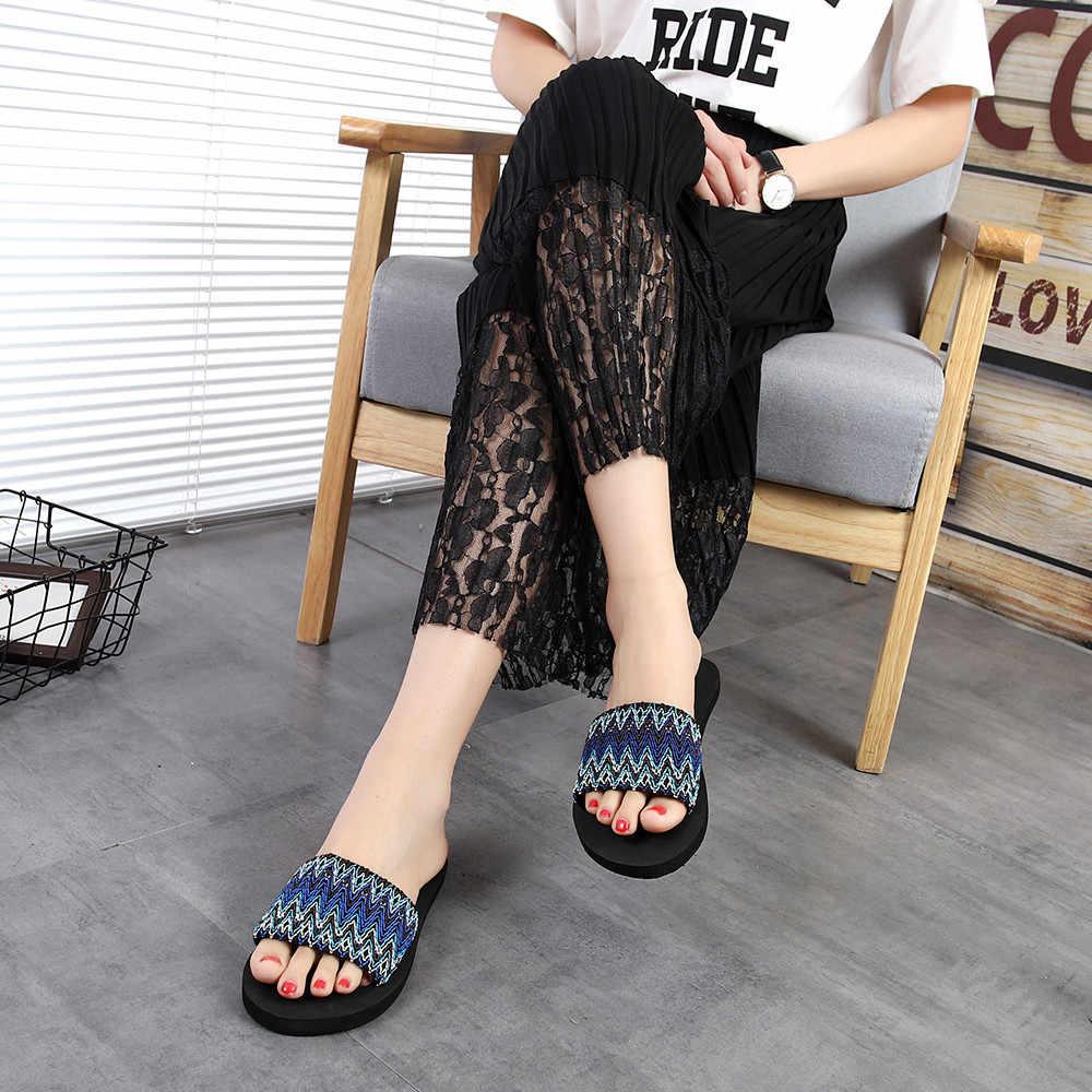 女性のサンダルスリッパ 2018 新夏ファッション · ナショナルズ屋内屋外フリップフロップ浜の靴 zapatos デ mujer #4
