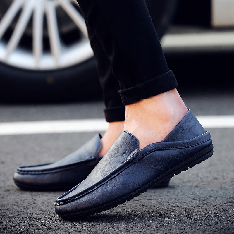 Soft Loafers Men Casual Shoes Zapatos Hombre Mans Footwear Loafers Flats Slip On Moccasins Drive Sneaker Summer Male Shoe AET616 summer men sneakers flat shoes casual loafers black brown moccasins hombre male shoes adult slip on boat shoes zapatos hombre