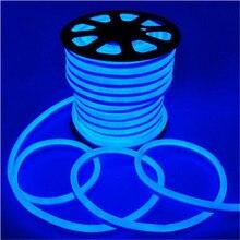 20 м/рулон светодиодный Flex Неоновый свет 2 проводами с 120 светодиодный/m AC110V 220 V/DC12V 24V красный/синий/зеленый/белый/желтый/оранжевый Цвет