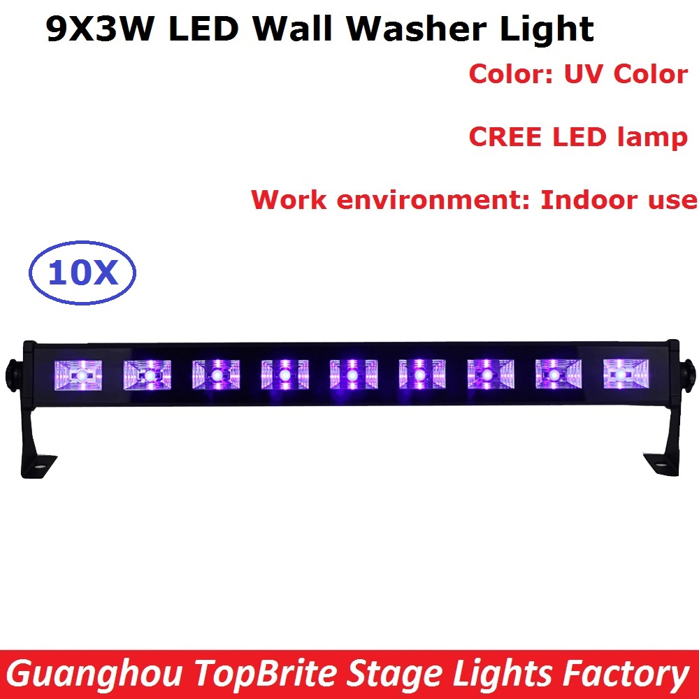 8w 48leds seven color sun pattern plastic stage lamp ac 90 240v - High Power 9x3w Led Bar Black Light Uv Purple Led Wall Washer Lamp Landscape Wash Wall