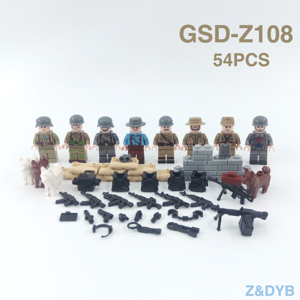 Flight Tracker Afghan Army Ww2 Russian Military Soviets Soldier Special Forces Action Figure Building Blocks Brick Toys For Kids Boys Children Model Building