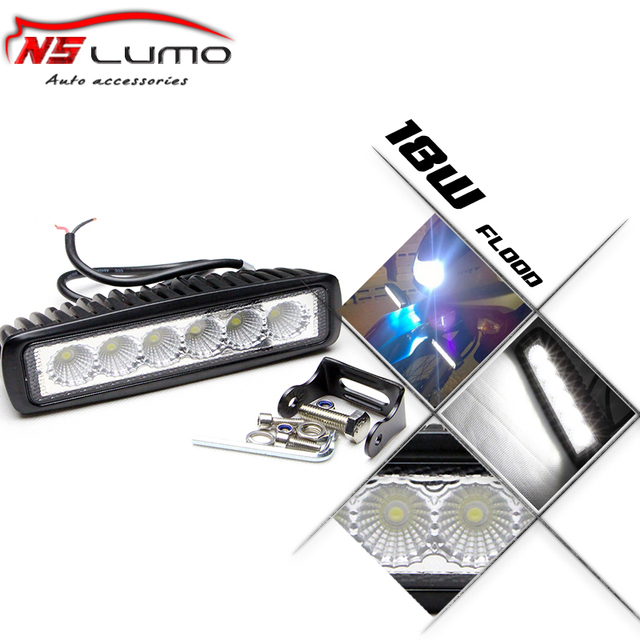 Free Shipping 6 Inch 18W LED Work Light for Indicators Motorcycle Driving Offroad Boat Car Tractor Truck 4x4 SUV ATV Spot