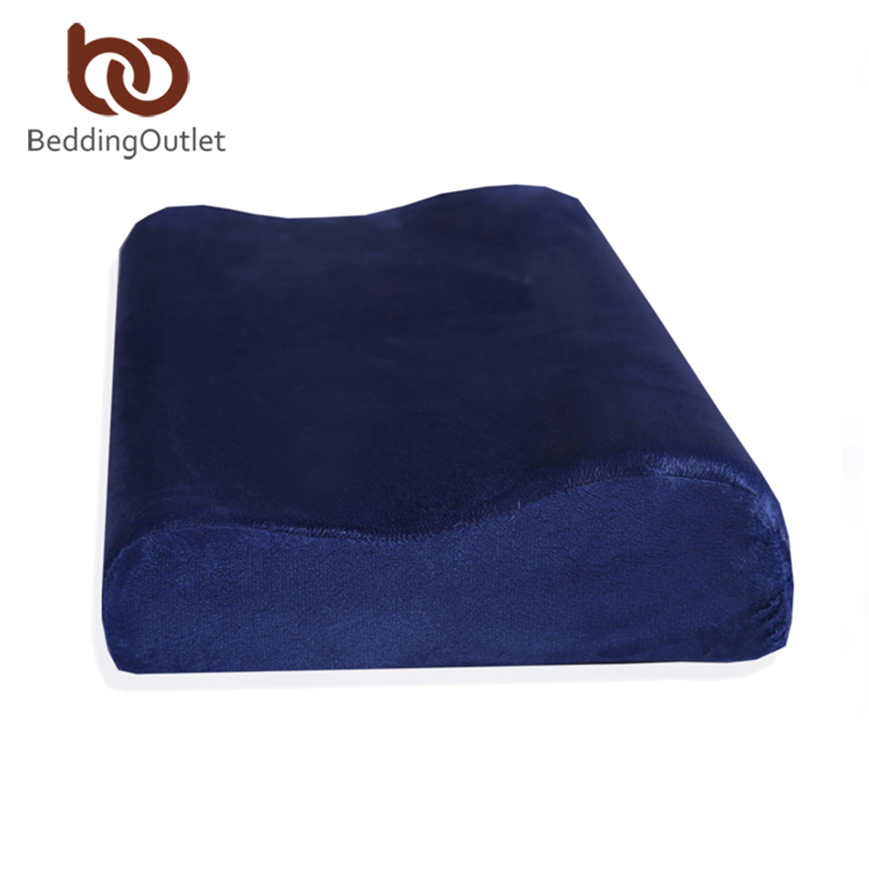 Beddingoutlet cr waves pillows memory foam pillow for The more pillows you sleep with