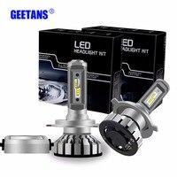 2PCS 50W 12000Lm Car Headlights H7 H11 H3 LED H4 9005 HB3 9006 HB4 9012 Mini