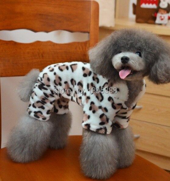 Leopard Velvet Style Pet psi Kabát Doprava zdarma Od CPAM Oblečení pro psy