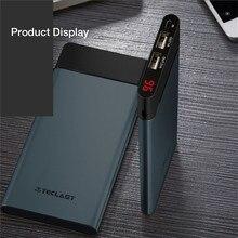 Teclast t100uc-n Power Bank 10000mah Dual USB Ultra Thin For iphone Huawei Samsung USB Type C & Micro Portable Charger PowerBank