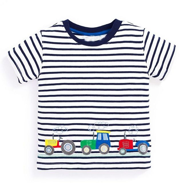 Cotton T-Shirts for Boys with Various Cute Designs