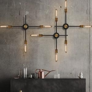 Image 2 - Loft Industrie Esszimmer Wand Lichter Retro Kunst Drehen Kopf Wand Licht Vintage Bar Cafe Edison Lampen Kostenloser Versand
