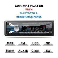 12V Bluetooth Car Radio FM/AM MP3 Audio Player USB Disk SD Card Playing AM Radio Aux Input Receiver SD USB 200W MP3 Player