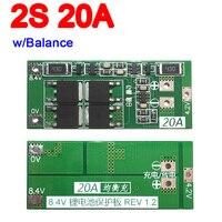 2 s 20a w/equilíbrio 7.4 v 8.4 v 18650 lipo li-ion bateria de lítio placa de proteção bms baterias para iniciar ferramenta de broca elétrica 3.7 v