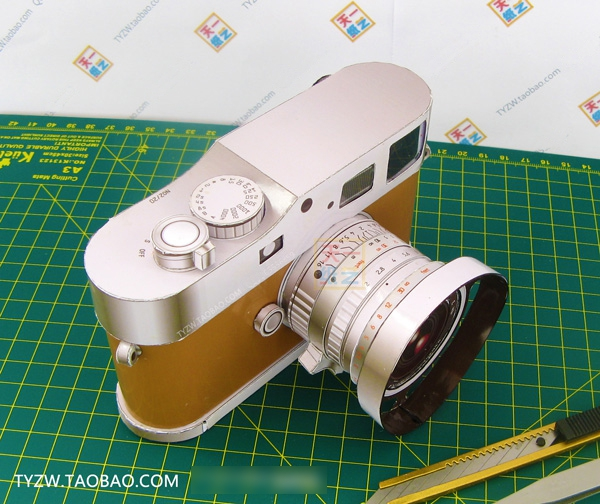 M9 Limited Edition Camera 3D Paper Model 1: 1 Puzzle Manual Origami Toy Paper Art Popula image