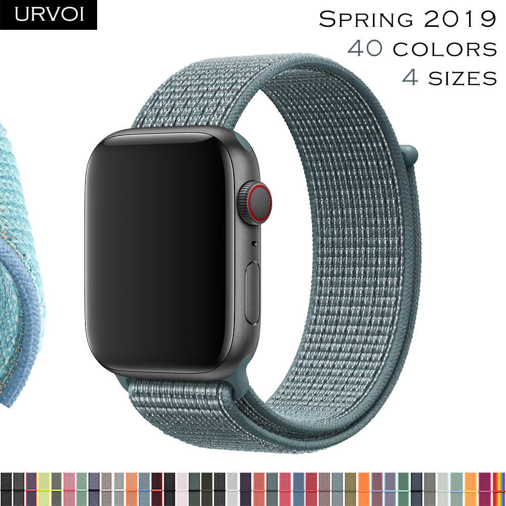 URVOI 2019 Sport loop for apple watch series 4 3 2 1 strap for iWatch band for NIKE+ double-layer HOOk&LOOP reflective