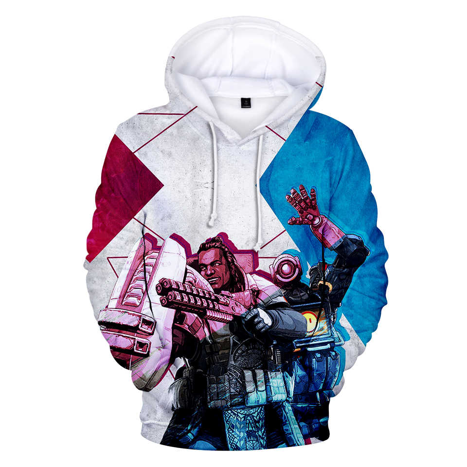 Hot 3D Print Apex Legends 3D Hoodie Sweatshirt Men/Female Spring and Autumn Casual Apex Legends 3D Long Sleeve Game Hooded Top