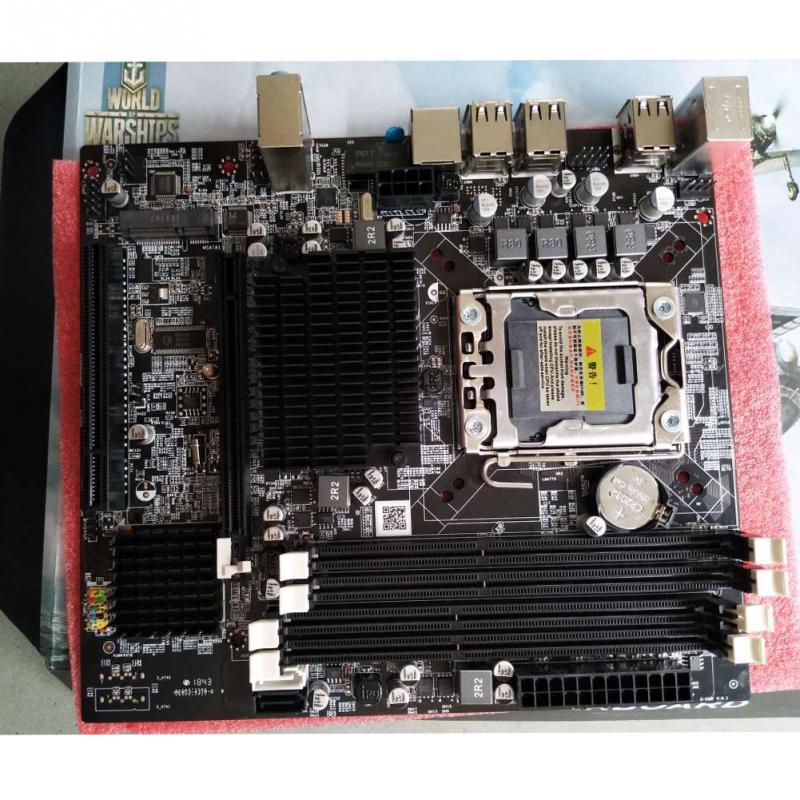 Nouveau X58 LGA 1366 Pin DDR3 carte mère ordinateur de bureau prise en charge de la carte mère REG ECC serveur mémoire et processeur Xeon