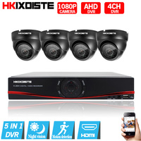 1080P Video Surveillance System 4CH CCTV Security Kit 4PCS 1080P Security Camera Super Night Vision
