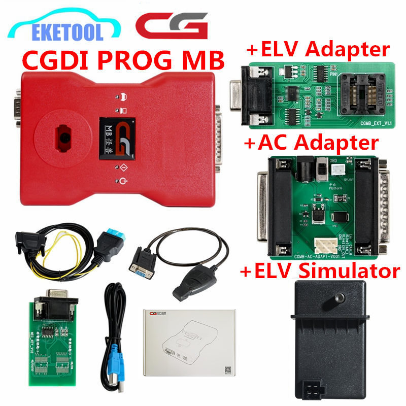 Original V2.8.4.1 CGDI Prog MB Para O Benz Suporte Todos Chave Perdida Mais Rápido Adicionar CGDI Para Benz Chave Auto Programador Chave adicionar Chave Rápida