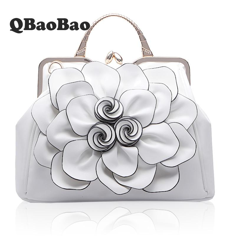 3D Big Rose Bag Brand PU leather women large shoulder bag New Hot female bag with Flower women hand Bag autumn new pu leather women bag female
