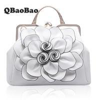 3D Big Rose Bag Brand PU leather women large shoulder bag New Hot female bag with Flower women hand Bag