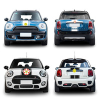 4pcs/set The latest car styling head and tail decoration stickers For BMW mini full range of customizable car styling cover