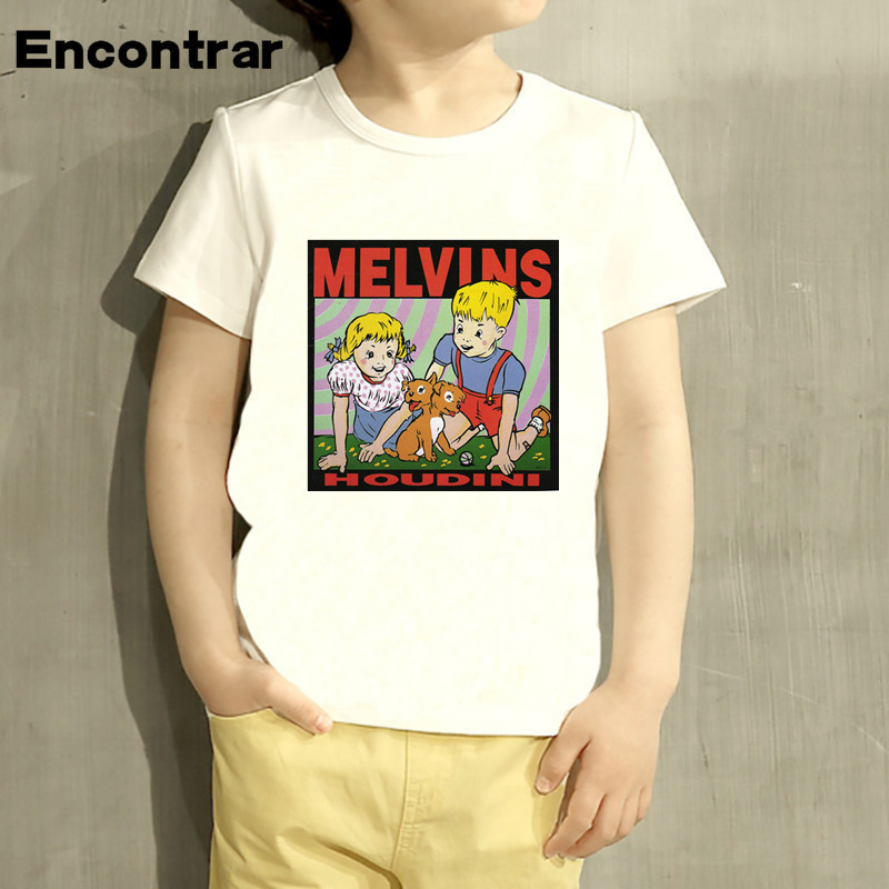 Kids The Melvins Houdini Metal Rock Band Design Baby Boys/Girl TShirt Kids Funny Short Sleeve Tops Children Cute T-Shirt,HKP799
