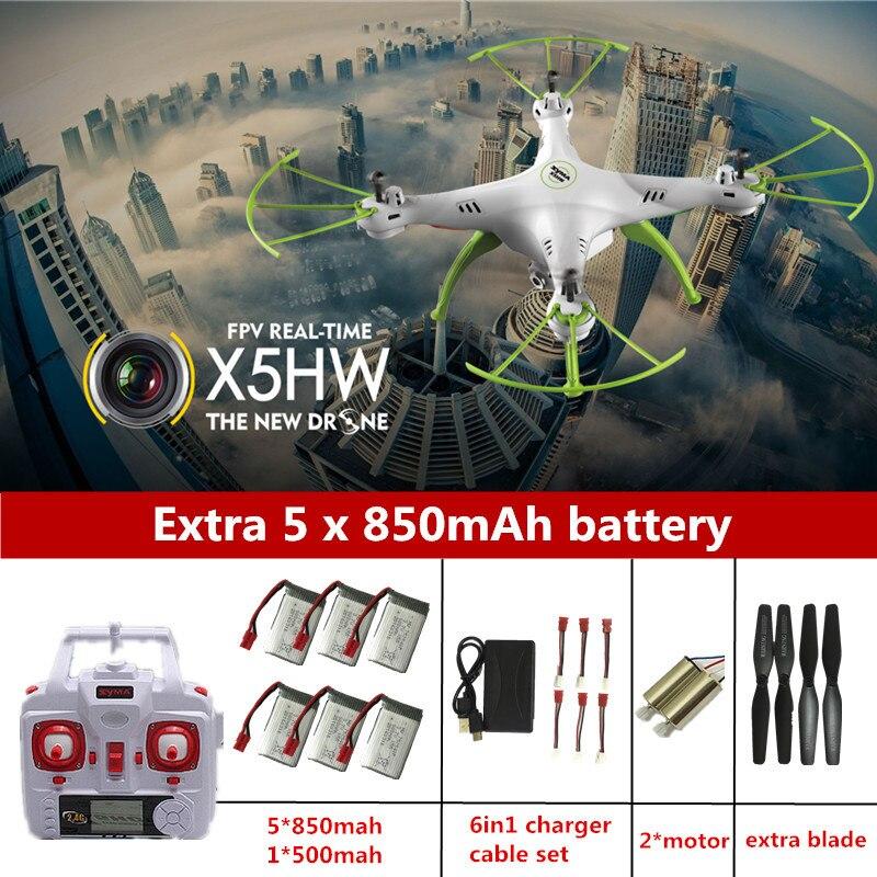 Оригинальный Радиоуправляемый Дрон SYMA x5hw Drone с Камера 2.4 г Радиоуправляемый квадрокоптер 4ch Дроны с Камера HD Дрон вертолет