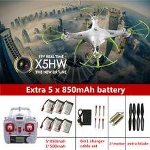 RC Drone Syma originais X5HW Drones Drone Com Câmera 2.4G 4CH Rc Quadcopter Com Câmera HD Dron Helicóptero DO RC