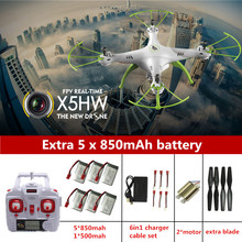 Authentic RC Drone Syma X5HW Drone With Digicam 2.4G Rc Quadcopter 4CH Drones With Digicam HD Dron RC Helicopter