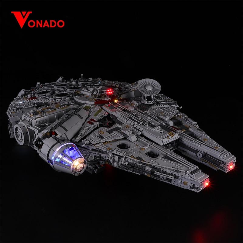 Led light kit for lego 75192 Compatible 05132 Star War Falcon Millennium Building Blocks Model Toys