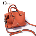 MORESHINE Women Boston Genuine leather handbag Coin bag pendant women's brand cow leather crossbody bag Female shoulder bag tote