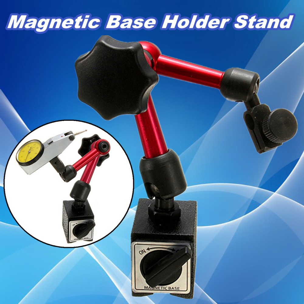 Nuevo Mini Flexible Universal Dial indicador de prueba soporte Base magnética corrección de soporte indicador herramienta