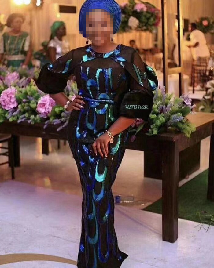 Luxury Royal green High Quality 2018 Nigerian Lace Fabrics Tulle Sequins African Lace Fabric Guipure Embroidered