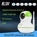 720 P Câmera IP HD Wi-fi Mini CCTV Monitor Do Bebê Da Câmera de Segurança Câmera de Vigilância Cartão TF Móvel APP Controle Remoto BWIPC012GR