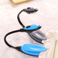 Awesome LED Clip Booklight Portable Travel Book Adjustable Reading Light Lamp Flexible Random Color