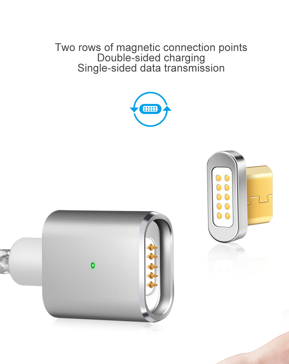 Elough E03 Magnetic Micro USB Cable Charger For Fast Charging And Magnetic Data Cable For Phones 7