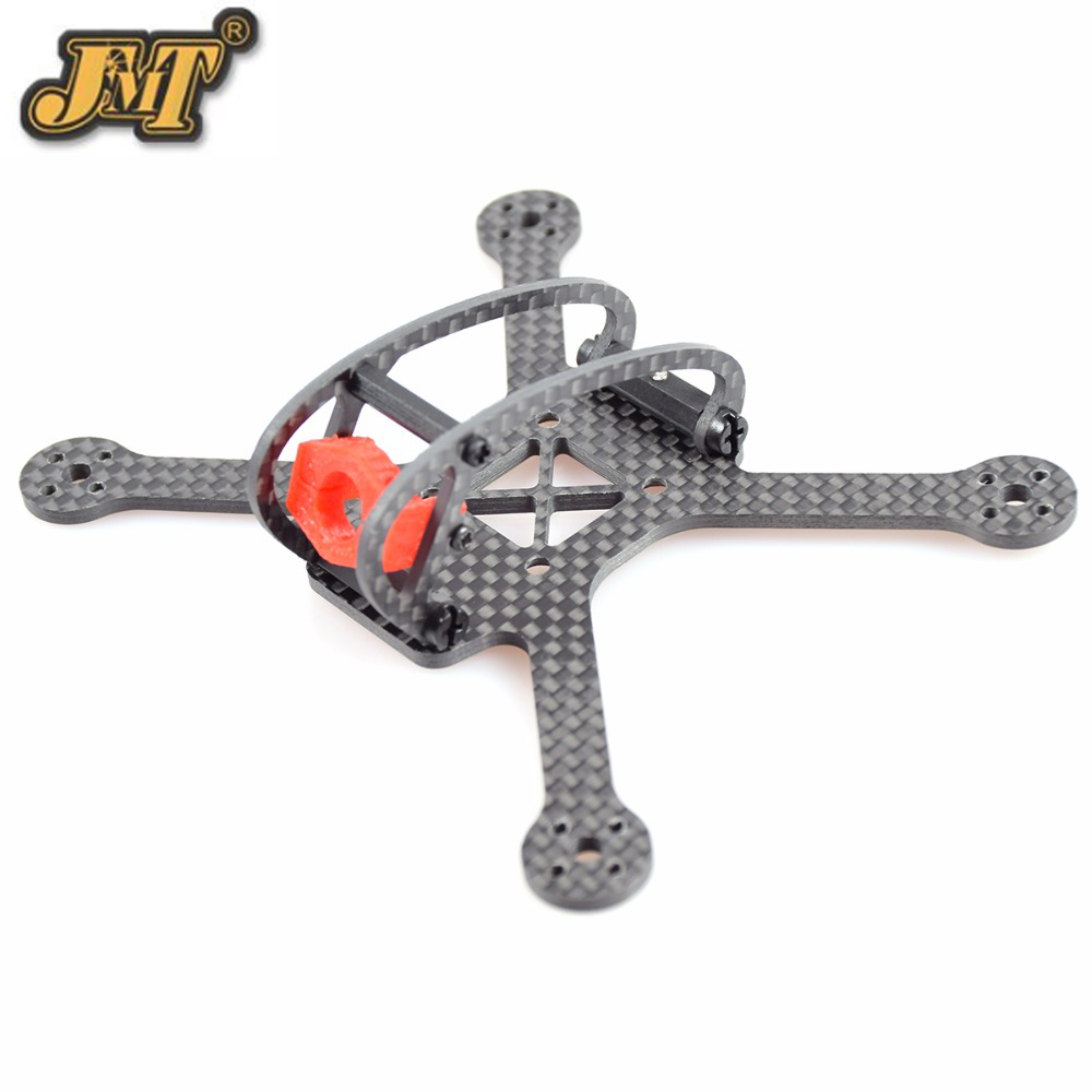 JMT Leader-120 120mm Carbon Fiber Frame Kit 4-Axle X Shape Frame for DIY Micro Racing Quadcopter FPV Drone