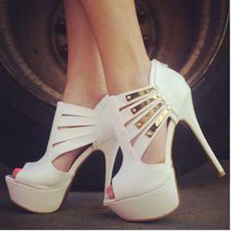 Livraison Cm Talons 14 Mode En Shofoo Blanc Sandales Garniture Cuir Or Chaussures Hauts Nouvelle 34 Gratuite À Taille 45 5 67xqBtx