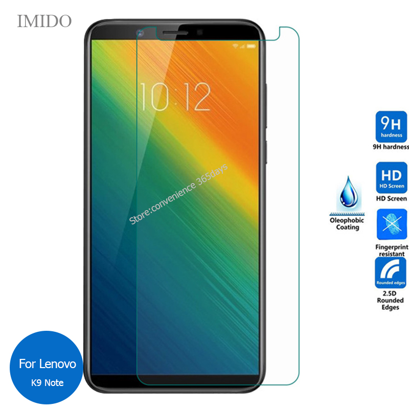 Dongdexiu Cell Phone Screen Protectors 50 PCS for Lenovo K6 Note 0.26mm 9H Surface Hardness 2.5D Explosion-Proof Tempered Glass Screen Film No Retail Package