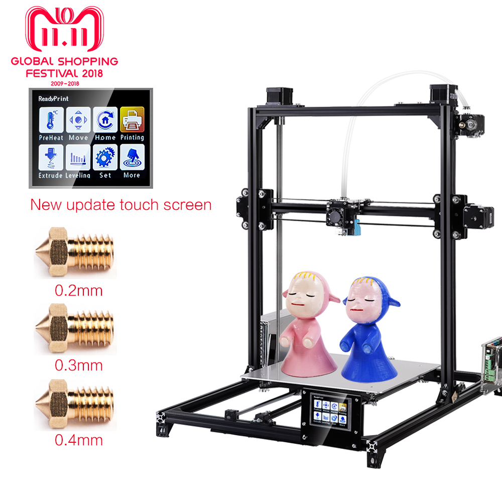Flsun 3D Printer I3 Kit Full Metal Plus Size 300x300x420mm Dual Extruder Touch Auto-leveling Printer 3D Heated Bed Filament все цены