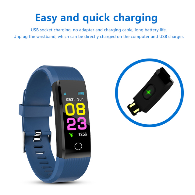 New Heart Rate Monitor Blood Pressure Fitness Tracker Smartwatch for ios android 1