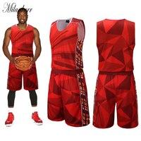 Druk cyfrowy Basketball Koszulki dla Mężczyzn Bez Rękawów Zespół Jednolite Zestawy Running Szkolenia Konkurs Odzież Ustawić Dorosłych Dres