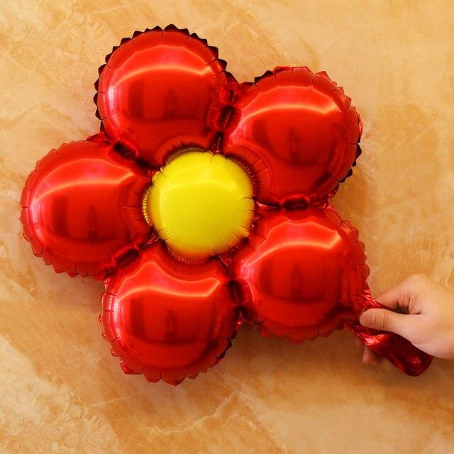 Online shop 5pcslot flower shaped foil balloons blue pink red baby 5pcslot flower shaped foil balloons blue pink red baby birthday party wedding decorations supplies kids classic toys junglespirit Gallery