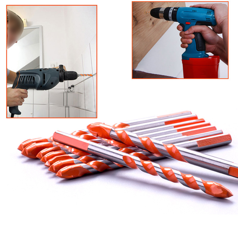 1Pcs 6mm-12mm Electric Tools Diamond Drill Hammer Concrete Ceramic Tile Metal Drill Bit Round Shank DIY Wall Hole Saw Drilling