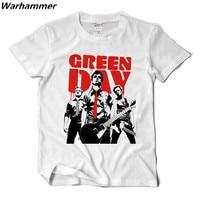Green Day Men T Shirt Punk Rock Band Tee Shirt Homme EuropeanRock Short Sleeve Printed Cotton