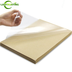 Image 2 - 50 yaprak A4 Boyutu 210mm x 297mm Temizle Boş Parlak PVC Etiket Vinil PVC Etiket Baskı PVC A4 yapışkanlı Etiket Lazer Yazıcı için