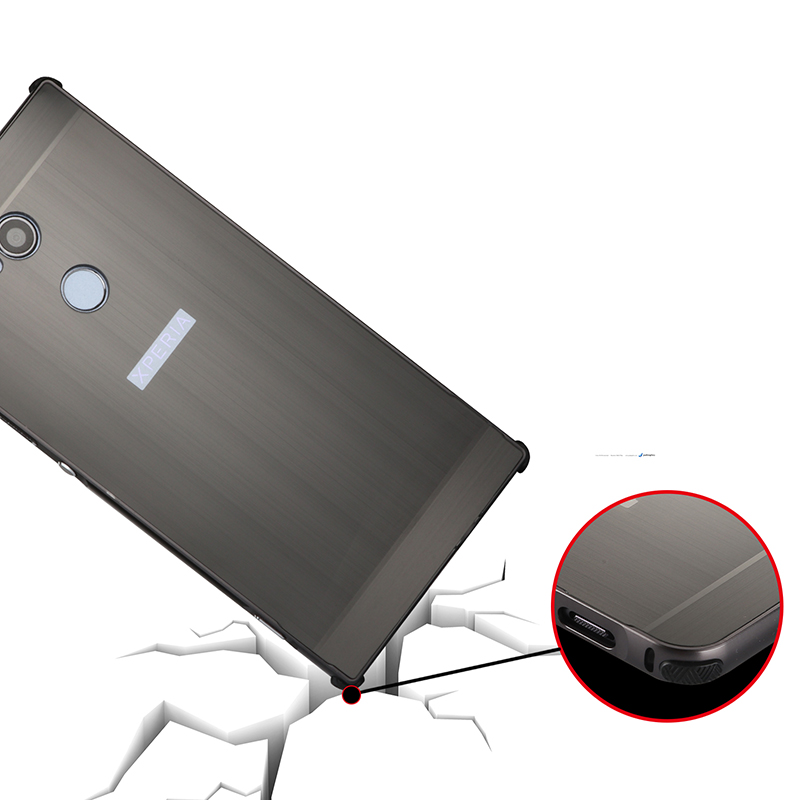 For Sony Xperia XA2 Ultra H4233 Case Brushed Back Cover Hard Case with Plating Metal Frame Case for Sony Xperia XA2 Ultra 6 0 39 39 in Fitted Cases from Cellphones amp Telecommunications