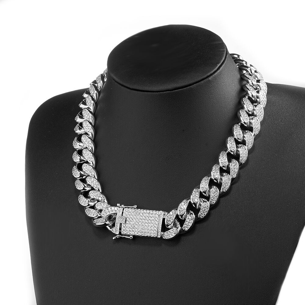 20-28inch Necklace Stainless Steel Silver Men Hip-hop Plated Chain Jewelry Gifts