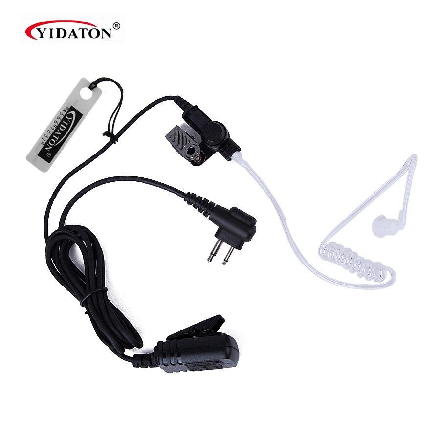 Nouveau 2 Pin PTT MIC Étanche Covert Acoustic Tube Écouteur pour Motorola Radio GP300 CP88 CP040 PRO1150 CLS1110 Écouteur Noir